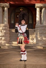 Kayla Lick, a senior at Central High School, is the majorette for the Kilties.