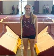 Stuarts Draft sophomore Leah Wood won the Class 1A/2A pole vault championship at Friday's indoor state track meet