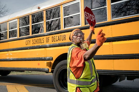 For the past eight years countless Decatur kids have crossed Adams St. safely on their way to and from Renfroe Middle School thanks to whistle-wielding, award-winning crossing guard Eula Malone. This work is part of an exhibit opening at Tall Timbers.