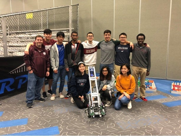 Chiles High School Robotics Club qualified for the VEX World Championship Tournament, to be held in April in Louisville, KY by placing 1st in their division and 2nd overall at the VEX Robotics State in Lakeland in February.