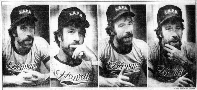 June 14, 1982 Chuck Norris  talks to El Paso Times staff writer Jim Brooks.