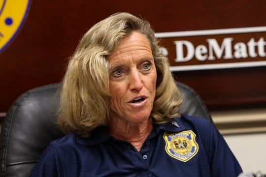 Department of Corrections commissioner Claire DeMatteis announces Connections Community Support Programs will be released as the provider of Delaware prison health care as of March, 31.