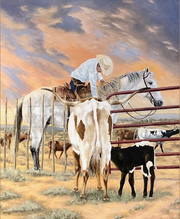 Midlothian-based western artist David Godfrey will be be one of 38 artists and craftsmen to show their work from 6:30 to 8:30 p.m. Fri., March 27 and 10 a.m. to 5 p.m. Sat., March 28 at the Forum at Cowboy True. The annual event celebrates the authentic world of cowboys through the art of the some of the best western artists in the country.