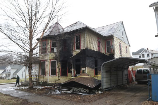 Fire destroyed the belongings of a family about to move out of 1105 Greenwood Ave. Monday morning