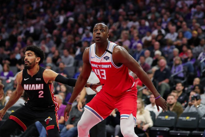 Forward Anthony Tolliver (43) during the game against the Miami Heat at Golden 1 Center.