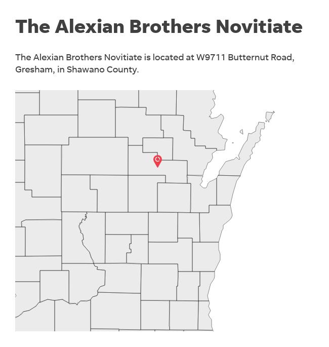 Alexian Brothers Novitiate map