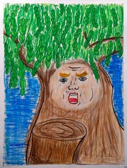 """Tree Trump"" by Audry Meffer, of Craig Middle School."