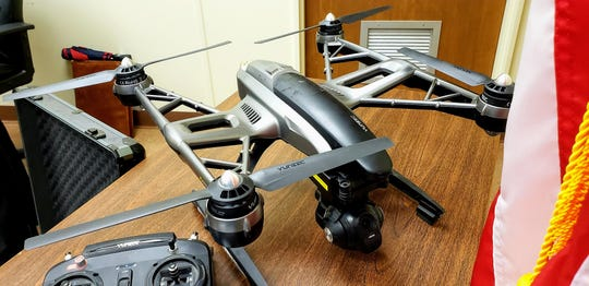 Former pilot Sterling Brooks donated several operational drones to the Taylor County Sheriff's Department. County commissioners accepted the donation Tuesday. Sheriff Ricky Bishop said the drones would be extremely useful to the department.
