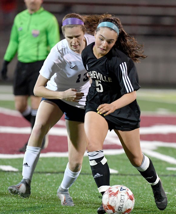 Asheville High defeated Roberson in penalty kicks during their first conference game at Asheville High School on March 2, 2020.