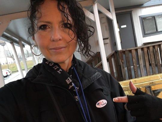Reporter Karen Chávez voted on March 3, 2020.