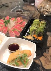 """""""(This was a) shameless take-out haul. Tried Haru Sushi (in Indialantic) for the first time via Uber Eats, said Rachel Fraser."""