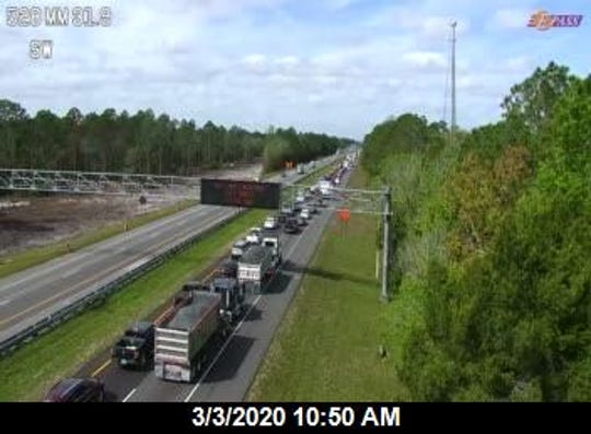Multiple lanes of State Road 528 were shut down  after a crash near the Orange-Brevard county line March 3, 2020.