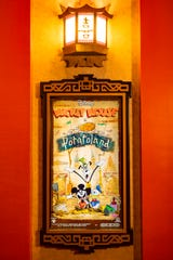 """A poster for the """"Mickey Mouse"""" cartoon short """"Potatoland"""" was created by Disney Television Animation for Mickey & Minnie's Runaway Railway, which opens March 4, 2020, in Disney's Hollywood Studios at Walt Disney World Resort in Lake Buena Vista, Fla. """"Potatoland"""" is one of several """"Mickey Mouse"""" posters guests find in the lobby of the Chinese Theatre as they prepare to experience the new ride-through attraction featuring Mickey Mouse and Minnie Mouse."""