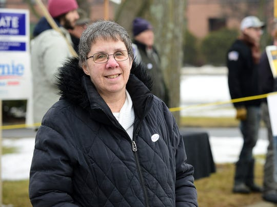 """Denise Martin of Burlington said one of her top issues for her on Town Meeting Day is the funding for the city Fire Department, which is seeking money for a new ambulance. """"They need the resources to do their job, to keep the community safe,"""" she said  outside the Burlington Ward 5 polling station at the Burlington Electric department on Tuesday morning, March 3, 2020."""