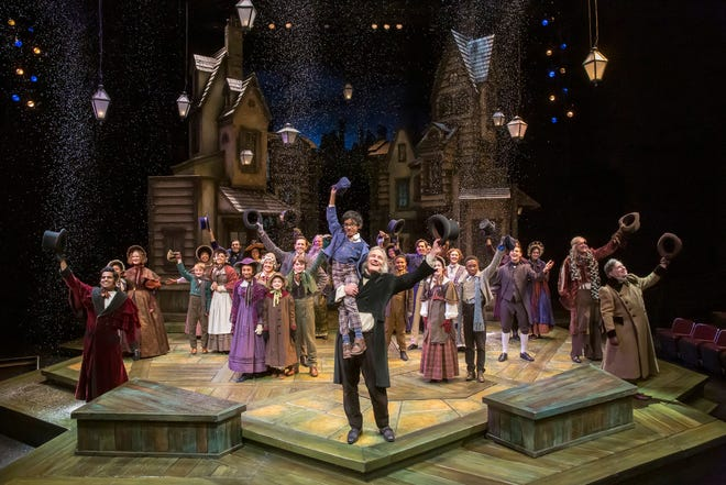 """The Playhouse's annual holiday show, """"A Christmas Carol"""" will be back in the Marx Theatre Nov. 25–Dec. 27. Seen here is the cast of the 2019 production."""