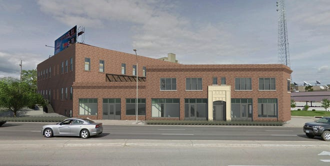 The historic renovation at 1201 Keo Way includes bringing back the original storefront.