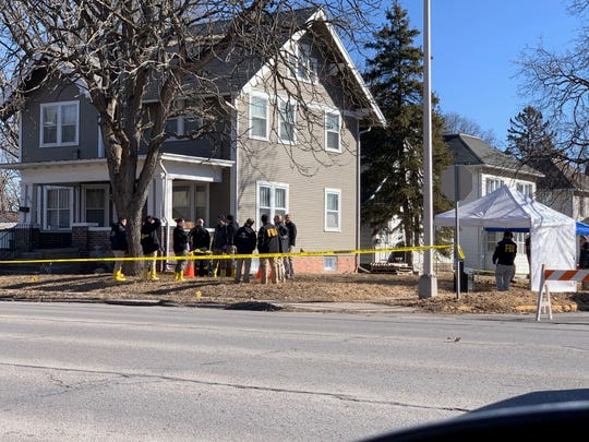 FBI agents were conducting an operation on Tuesday morning at a home at Eighth Street and Grand Avenue in Ames.