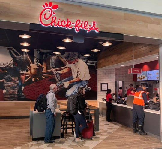 The Chick-fil-A inside Detroit Metro Airport's North Terminal.