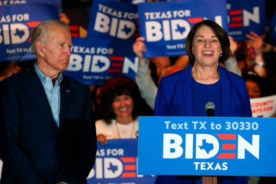 "Sen. Amy Klobuchar, D-Minn., says, ""No one knows better about being vice president than Joe Biden."""