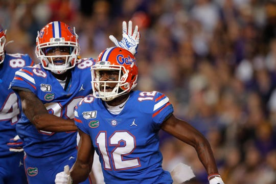 Florida wide receiver Van Jefferson (12) had 49 catches for 657 yards and six scores as a senior.