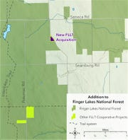 The Finger Lakes Land Trust acquired another piece of wooded property that borders the Finger Lakes National Forest in Hector.