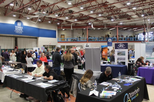 Terra State Community College hosted its Spring 2020 Job Fair Tuesday. About 80 area employers were on hand to talk to prospective applicants about their companies and what jobs are available.