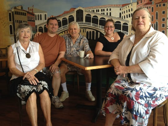 Maria's Pizzeria is all about family. In this 2012 picture, from left: grandmother Pat Randel, son/chef Alfonso Giordano, the late father/founder Giovanni Giordano, general manager/daughter Ann McMillan and Ann's mother, Ruth Giordano.