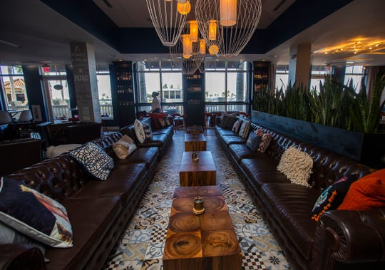 A view of the lounge area at Gather in Cape Coral.