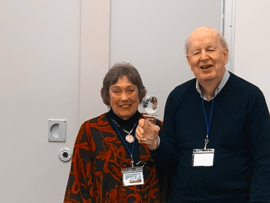 Joyce and David Detert accepted the Community Support Group Leadership Award at the 4th Annual Summer Work Travel Community Support Group Summit that gathered together international workers support groups from across the U.S.