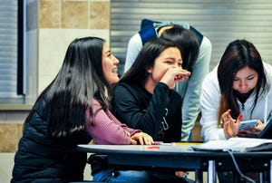 Rocky Boy High School students hang out in Feb. 2020.