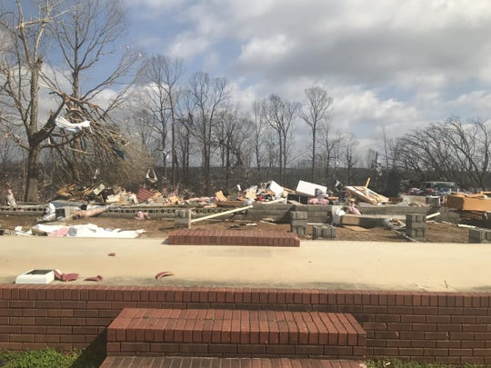John Holmes' property in Camden, Tennessee, was razed  by a deadly overnight storm that tore through Benton County on March 2, 2020.