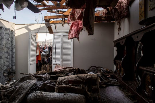 Jim and Michelle Mullikin's home was damaged by the storm in Bradford, Tenn., on Monday, March 2, 2020. They were at home when the storm hit but were able to get to a neighbor's house for shelter.