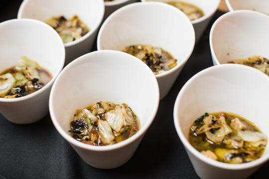 Blackberry Farm chef Cassidee Dabney's pinto beans were a resounding hit at the Bourbon Classic's Top Shelf event in Louisville.