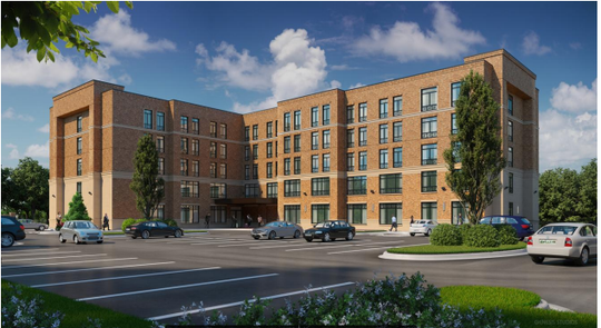 This rendering shows what a future Marriott-TownePlace Suites in Germantown could look like. The hotel would be the second within the Thornwood mixed-use development.