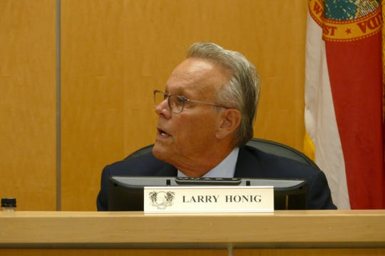 Marco Island City Councilor Larry Honig speaks during a council meeting on March 2, 2020.