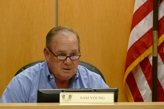 Former Marco Island City Councilor Sam Young speaks during a council meeting on March 2, 2020.