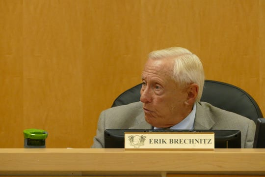 Erik Brechnitz, chairperson of the Marco Island City Council, speaks during a council meeting on March 2, 2020.