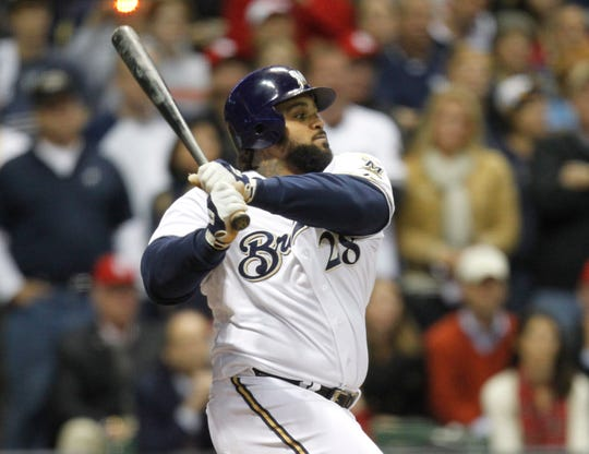 Prince Fielder was the first Brewer to have three consecutive seasons with at least 30 homers and 100 RBI.