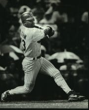 Outfielder Greg Vaughn led the Brewers in home runs for five consecutive seasons from 1991-95.