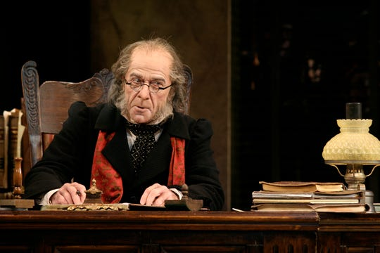 """Lee E. Ernst portrayed Scrooge in Milwaukee Repertory Theater's 2005 production of """"A Christmas Carol."""" Ernst will return to play the same character in 2020."""