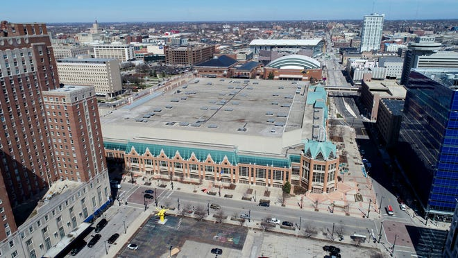 The Wisconsin Center on West Wisconsin Avenue and North Vel R. Phillips Avenue looking north in Milwaukee on Monday, April 8, 2019.