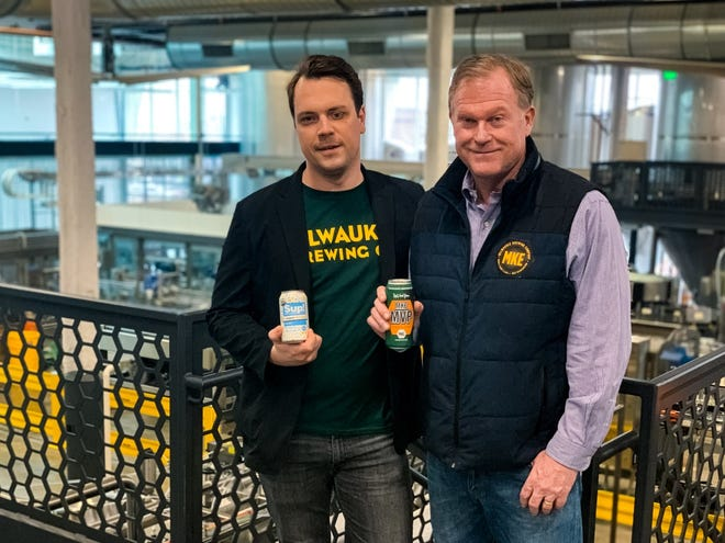 Chase Brooks, left, of Sup! Organic Hard Seltzer, joins forces with David Hock, president and CEO of Milwaukee Brewing, to form Drink Design Collective.