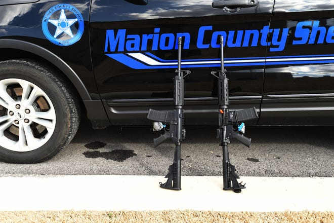 Money and assets seized from drug dealers allowed 14th Judicial District Prosecuting Attorney  David Ethredge to purchase two Smith and Wesson M&P .223 caliber rifles for deputies at the Marion County Sheriff's Office.
