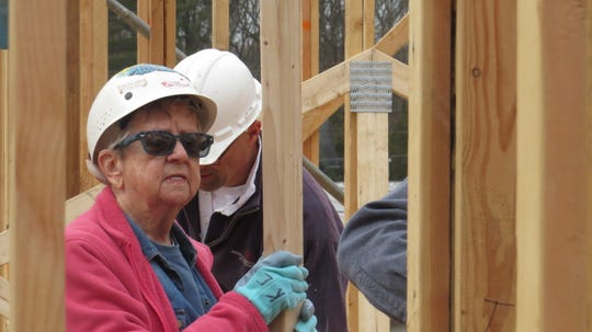 More than two dozen women volunteers helped to build a six-unit condominium in the Succasunna section of Roxbury on Women Build Day. March 3, 2020
