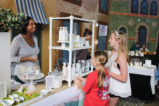 Young, aspiring artists talk to local art creators at the Pike Road Art Market. The ninth annual Pike Road Art Market is set for March 7.