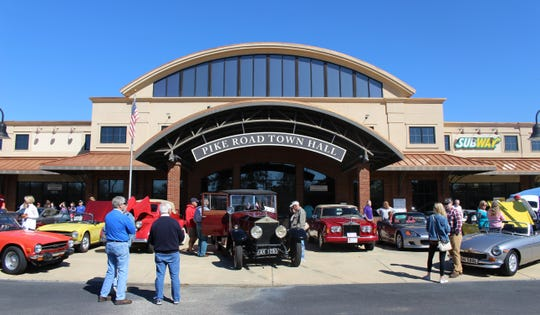 The British Motoring Club of Montgomery helps draw a crowd to the Pike Road Art Market in 2018. The ninth annual Pike Road Art Market is set for March 7.