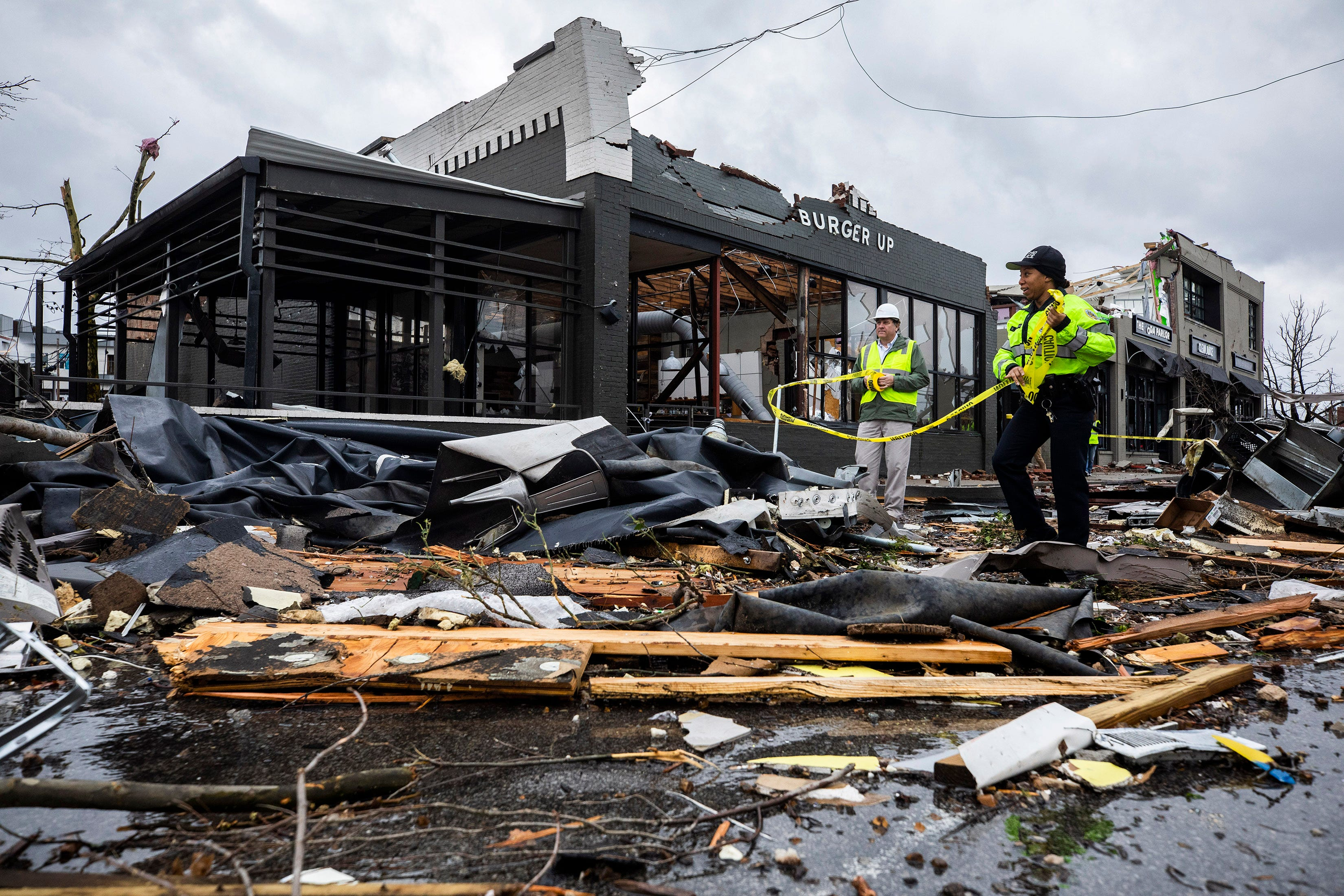 Tornado damage in East Nashville Tuesday, March 3, 2020.