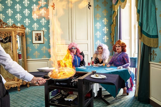 """""""Drag Queen Brunch"""" by Poppy Tooker celebrates boozy morning meals in New Orleans. (Courtesy Rainbow Road Press)"""