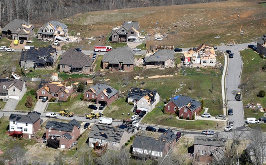 An EF-3 tornado damaged more than 1,300 structures in Wilson County.
