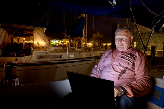 Douglas Bickings, 62, is an automotive technology teacher at Key West High School. Bicking lives on sailboat in Marathon, Fla. about an hour north of Key West, due to the high cost of housing in The Keys.